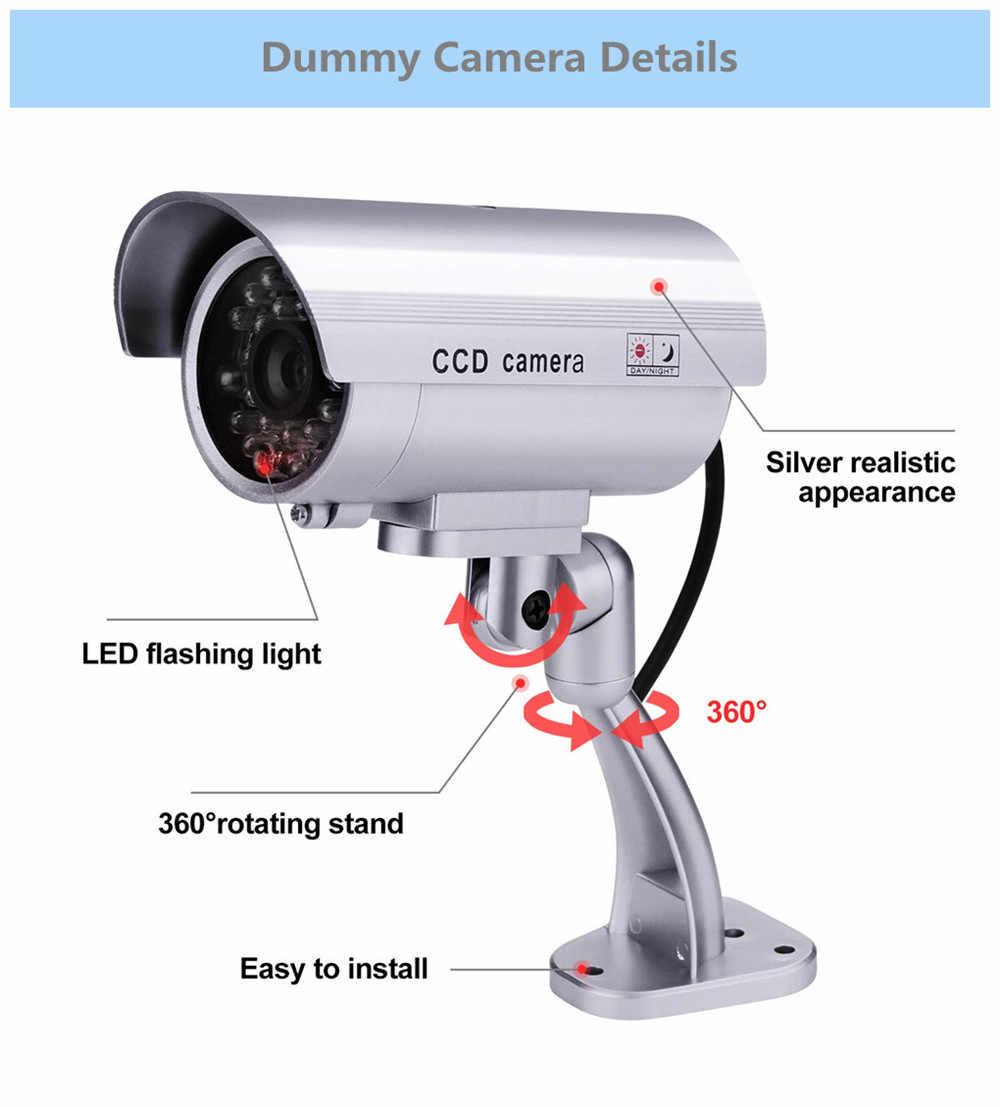 كاميرا وهمية وهمية الأمن cctv المراقبة بالفيديو واي فاي وامض الأحمر led مقاوم للماء في الهواء الطلق كاميرات وهمية وهمية