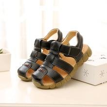 Скура лета малых сандалі высокай якасці Sandale Enfant Гарсон Soft Дзіцячая абутак Сімпатычныя моды Дзіцячыя сандалі