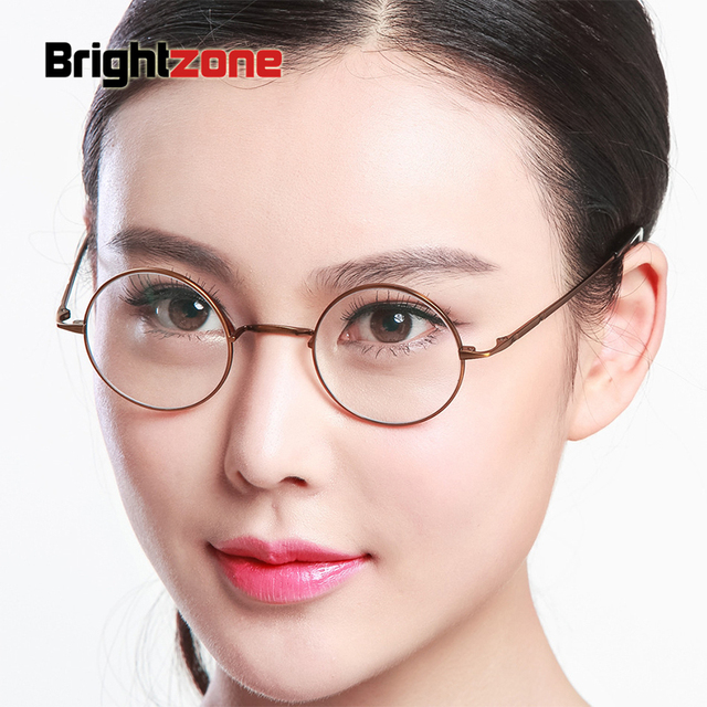 Restore Ancient Ways Glasses Frame Metal Alloy Men And Women Round Myopic  Eye Picture Frame Harley Circle Glasses Frame T 8732 5016525f61