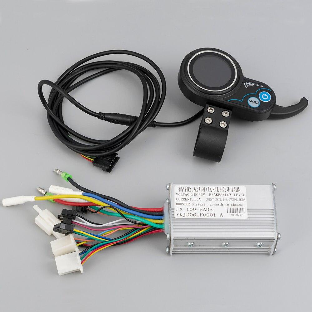 E скутер аксессуары 36 В в В 48 в 500-250 Вт контроллер ЖК-дисплей режим электромобиль велосипед бесщеточный контроллер с ЖК ebike 0,3