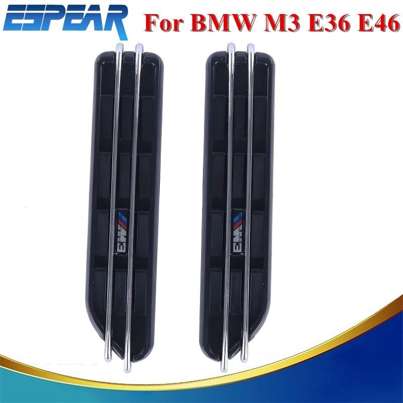 Air Flow Fender Side Vents Mesh Sticker Hole Grille For BMW E34 M3 E46 E36 Car Accessory #9147 hella black для bmw e34