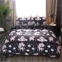 Unicorn Bedding Sets Queen King Size Quilt Cover Colorful Duvet Cover Set Bed Linen Bedclothes