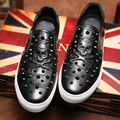 New Arrival Fashion Men Genuine leather Flats Casual Boat shoes Skull Rivets Male Loafers Breathable Driving Shoes Moccasins