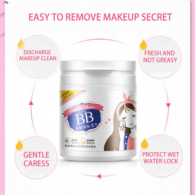 Producto de Importación 100 hojas removedor de maquillaje de algodón toallitas húmedas profunda limpieza