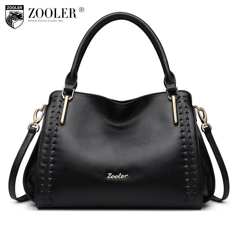 купить Genuine Leather bag ZOOLER ladies hand bags designer handbag quality woman shoulder bag bolsos mujer de marca famosa 2018 #1119 по цене 5167.4 рублей