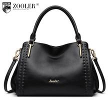 ZOOLER BRAND quality Genuine Leather bag Handbags top handle women bags whole cowhide women messenger bag