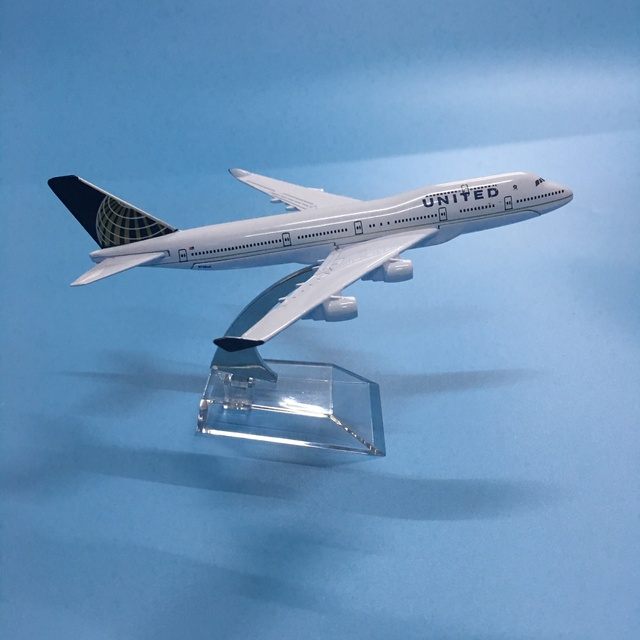 American Air United Airlines Boeing 747 B747 400 Airways 16cm Alloy Metal Plane Model Aircraft Airplane Model w Stand Gift 2