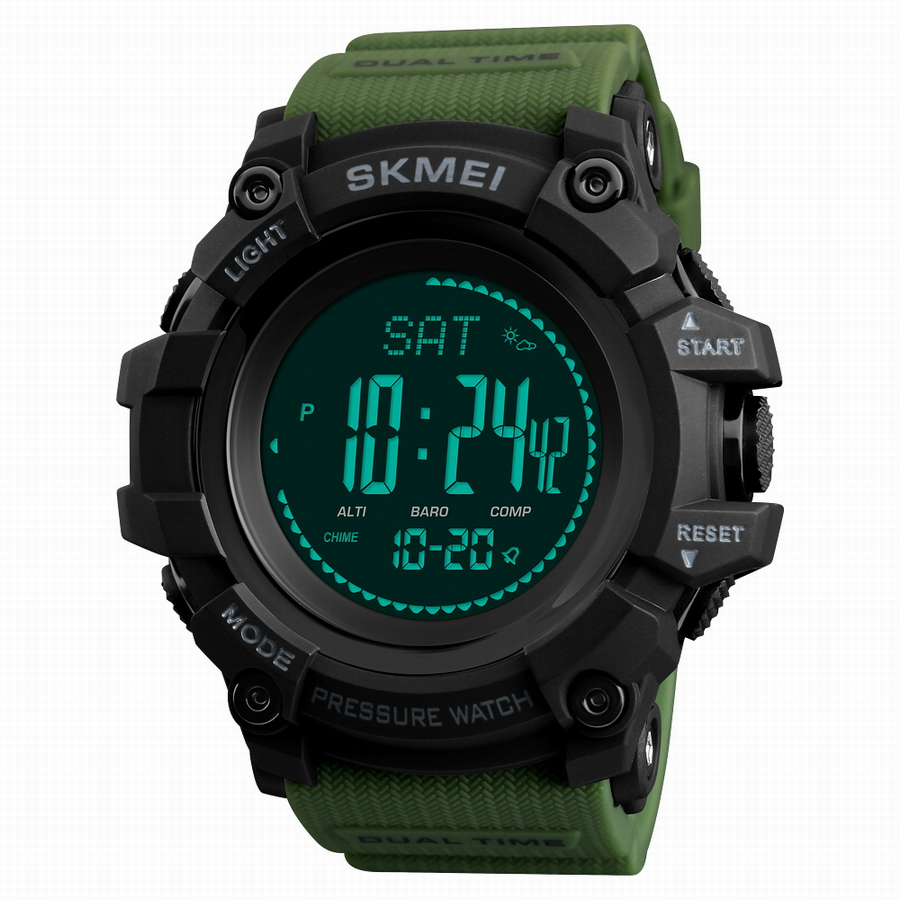 SKMEI LED Digital Watch Men Altimeter Pressure Thermomet Weather Compass Pedometer Calories Multifunction Sport Watches For Men skmei men watch sport altimeter pressure thermomet weather pedometer calories compass multifunction led digit wrist watches men
