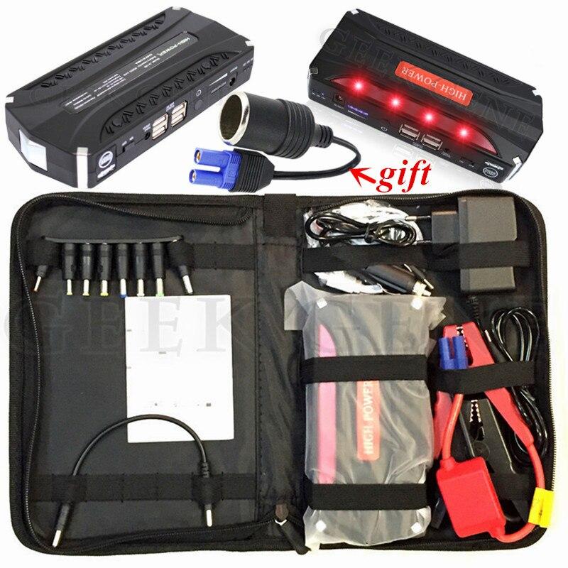 Mini arrancador de batería de coche de emergencia portátil 12000mAh dispositivo de arranque banco de energía 12V 600A cargador de coche para coche batería Booster Buster