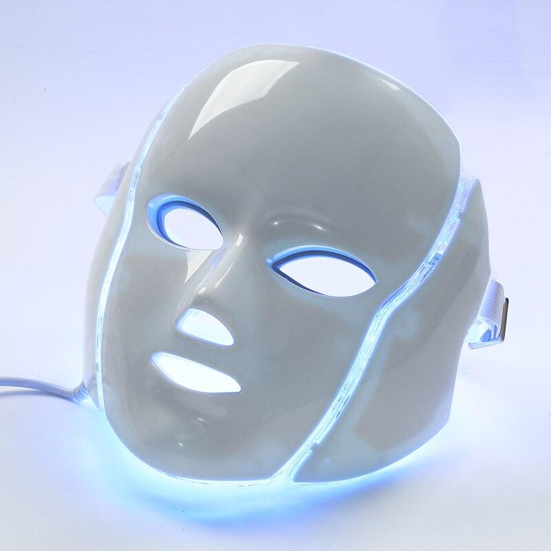 LED beauté lumière masque 7 couleur LED galvanique masque facial corée PDT masque LED