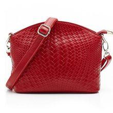 100% echtes Leder Brandneue Mode Designer Stricken Messenger Handtasche Frauen Tasche Damen Taschen Weiblichen Umhängetasche S-369