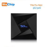 10pcs/lot TX9 Pro 3G 32G Amlogic S912 Octa-core Box Android 7.1 TV Box 2.4G+5.8G WIFI 1000M LAN Bluetooth 4.1 4K Set-top box
