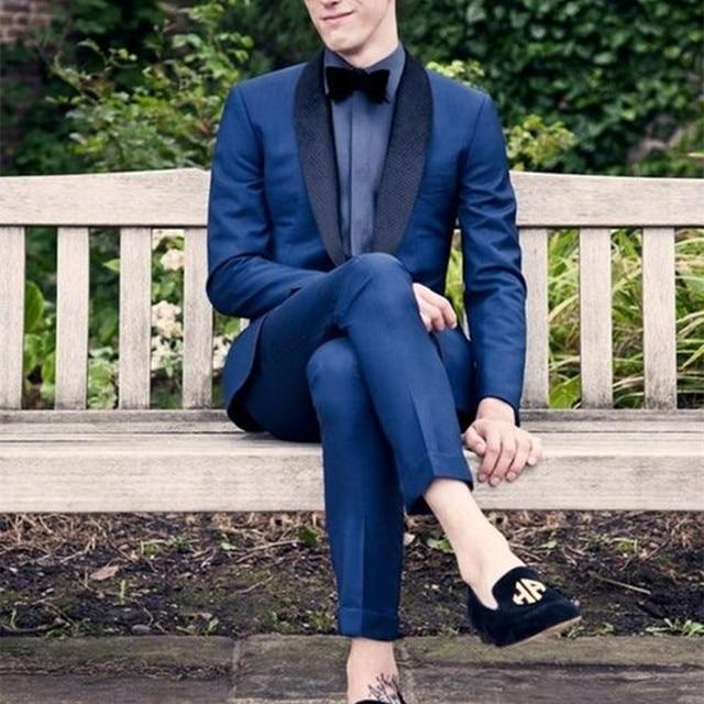 2019 Latest Coat Pant Designs Navy Blue