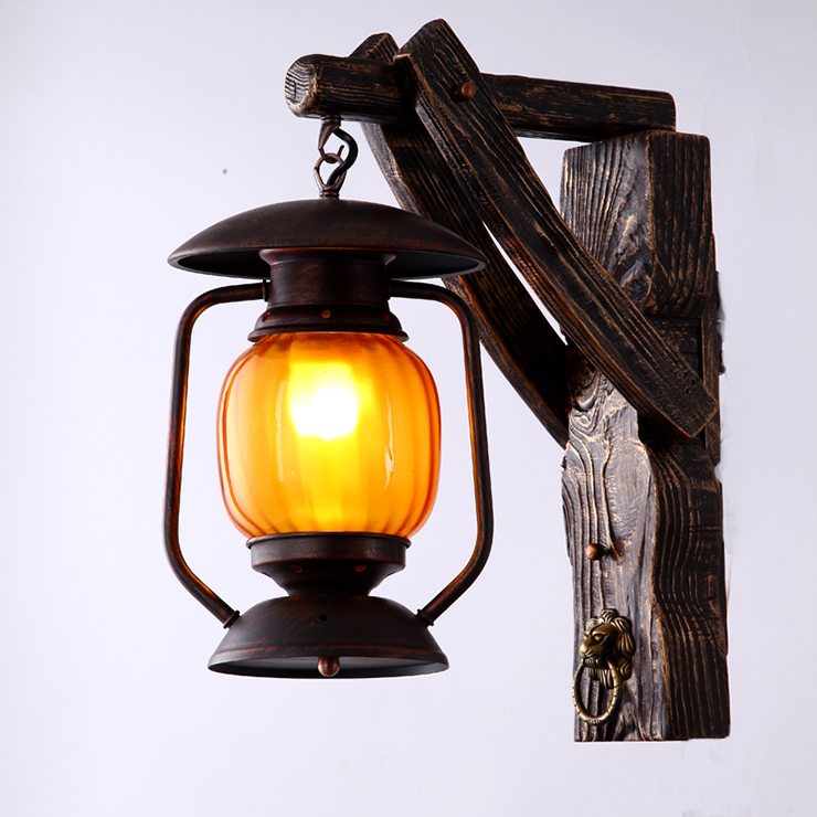 Chinese antique lamp wall lamp country creative personality light bar restaurant channel lamp wall lamp