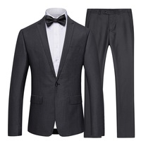 S 5XL High Quality Men's Business Casual Slim Suit Fashion Office Men Groom Groomsmen Wedding One Button 2 Piece Suits