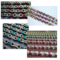 NGT 10 Speed Chain 116 Knots Mountain Road Bicycle MTB Bike Chains 30 Speed Chain Blue Red Pink Color Fast Shipping