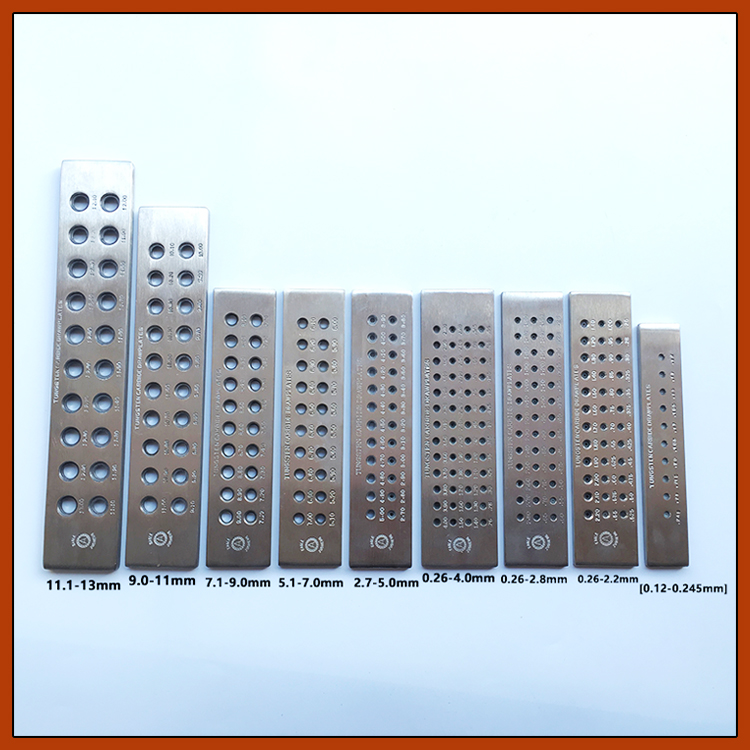 Round Wire Draw Plate 2.7-9.0mm 24 Holes Wire Drawplate Jewelry Tools