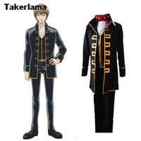 Takerlama Anime GINTAMA Shinsengumi Uniform Cosplay Costumes Okita Sougo Hijikata Toushirou Uniform Suit Halloween Cosplay