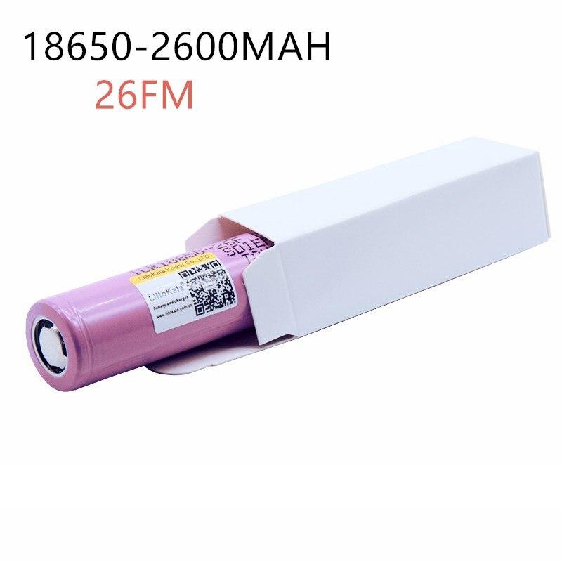 1 ШТ. 3.7 В 18662,62, 600 мАч Originais 1862,62, 600 мАч baterias Bateria recarregavel icr18650-2600f seguro усо Промышленных