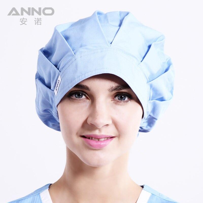 Светло-голубой Bon Кепки скраб шляпы Для женщин шапки подходит для длинных волос с удобной операционной Шапки доктор Кепки
