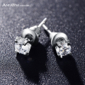 ANFASNI Top Quality Silver Color Purity Women Jewelry Earrings Cut 3 Carat AAA Cubic Zircon Bride Earrings CER0024-B