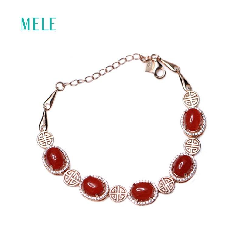 Přírodní červený achátový náramek módní a romantický styl pro ženy, třpytivé a průsvitné jemné šperky, svatba a výročí