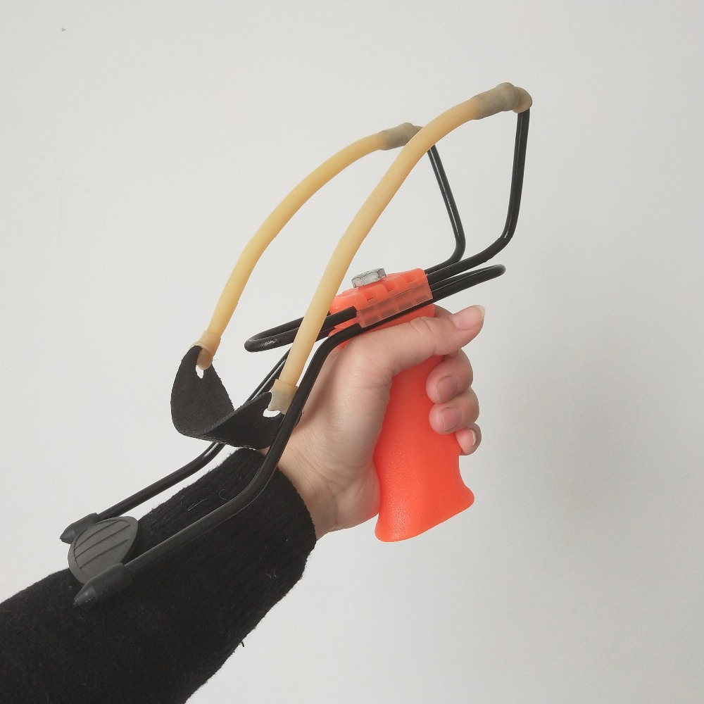 Image 4 - Professional Slingshot Catapult Rubber Band Hunting Slingshot With Wrist Rest Athletic Slingshot Outdoor Handhold Shooting Game-in Paintballs from Sports & Entertainment