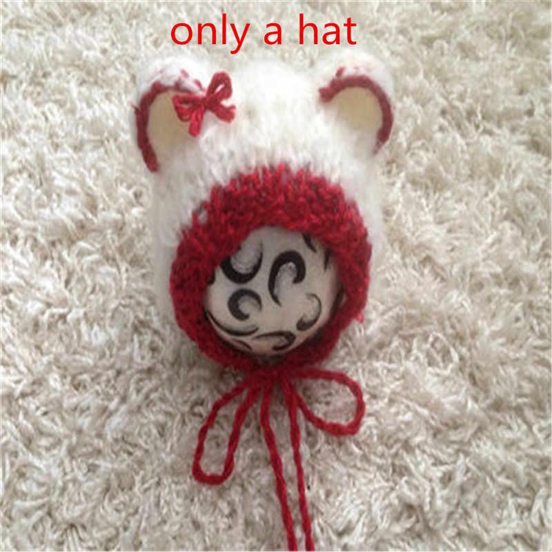 Neonato Bambino Di Natale cervo Cappello Appena Nato Fotografia Handmade Del Crochet Del Cappello Bebe Foto Props Accessori Bebe boy Beanie Del Cappello