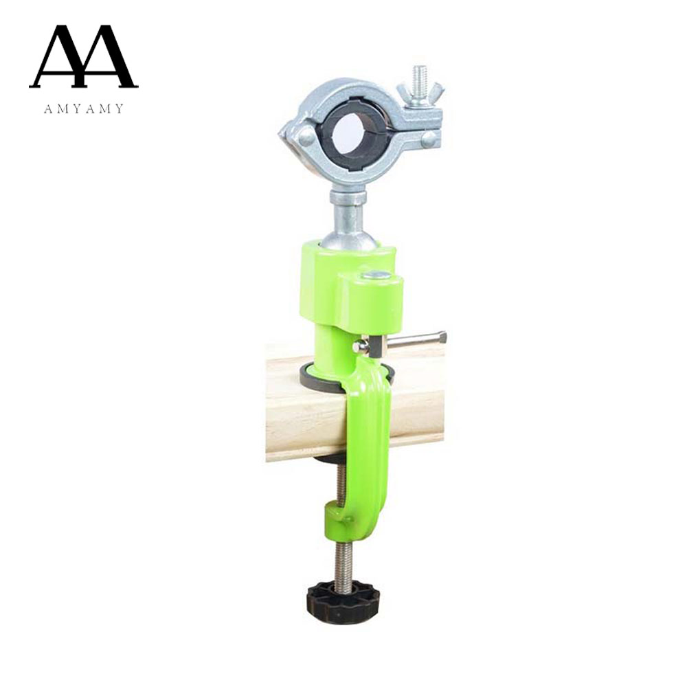 AMYAMY Universal Bench Vise Swivel Tabletop Clamp Vice 360 Rotating Tilts Work Hobby Grinder Holder Metalwork Drill Versatile amyamy mini drill press bench small electric drill machine work bench 220v 710w eu plug 5156e