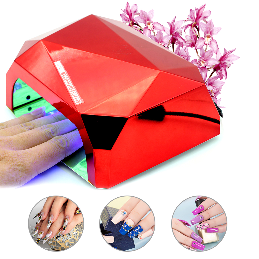 Diamond Vorm Led Nail Lamp Nail Droger Voor UV Gel Nagellak 36 W UV ...