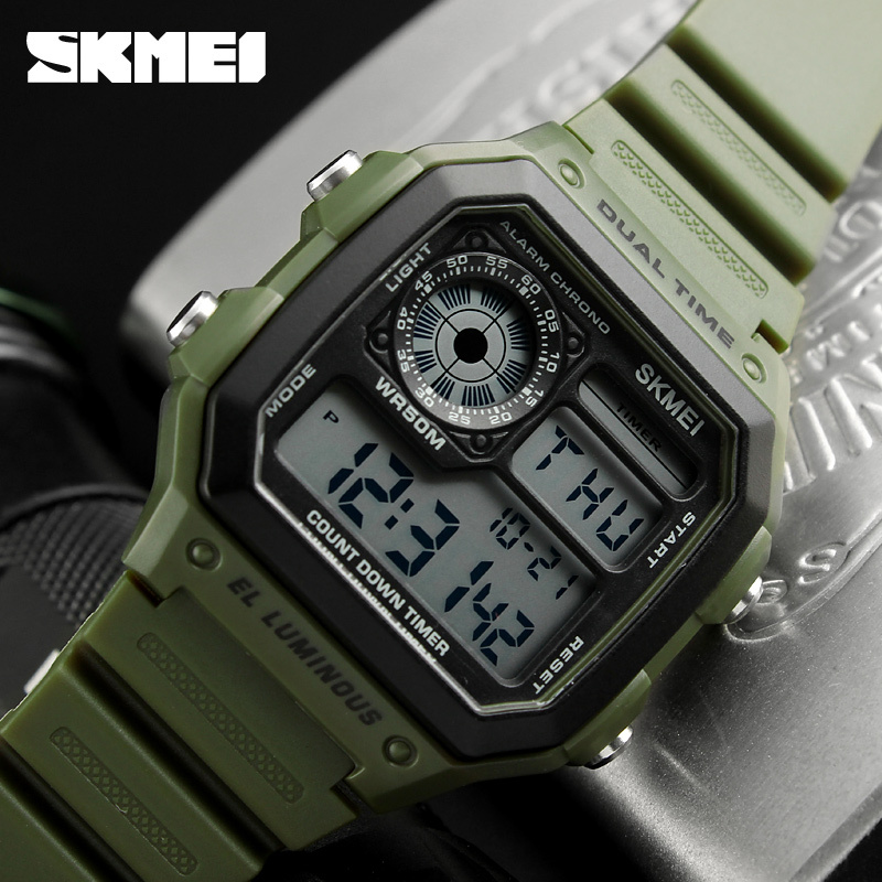 Skmei Famous Outdoor Sports Watches Men Waterproof Countdown Digital Watches Military Wristwatches For Women Man Clock