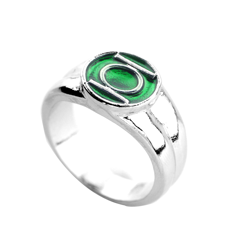 new jewelry dc comics marvel green lantern ringthe superhero green enamel silver power ring for men movie jewelry in rings from jewelry accessories on - Green Lantern Wedding Ring