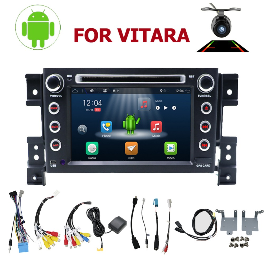 car multimedia player 2 din android 10.0 car DVD player for Suzuki grand vitara car radio stereo gps wifi BT 3g/4g mirror link image