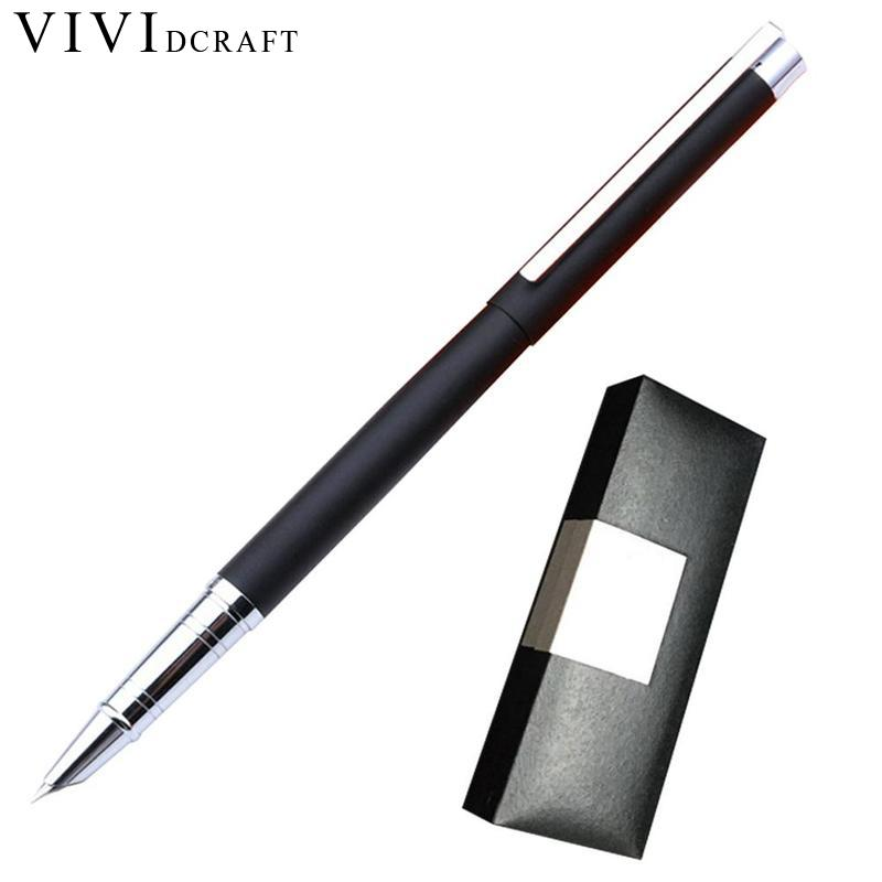 Vividcraft 1X Genuine Fine Financia Pen Student Calligraphy Pen Writing Art Fountain Pen Ink 0.38mm Optional Gift Box Set w110145 soft head fine water mark pen 48 60 color beginners painting professional equipment advanced ink student art suit