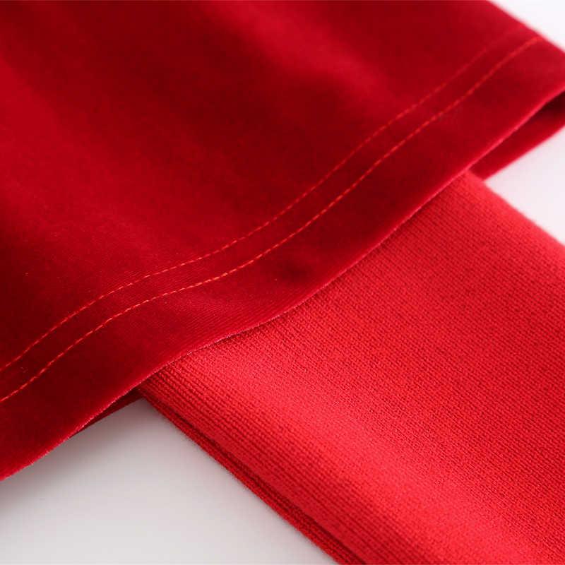 Nerazzurri женское бархатное платье велюр с карманами женское элегантное Ребристое платье с длинными рукавами черного и красного цвета больших размеров миди платье 4xl 5xl 6xl 7xl теплое платье женское осень зима 2019