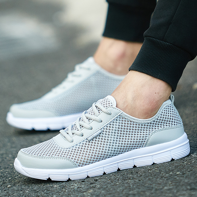 Men Running Shoes Summer Breathable Mesh Cool Jogging Outdoor Training Sports Mens  Sneakers Plus Size 39-48