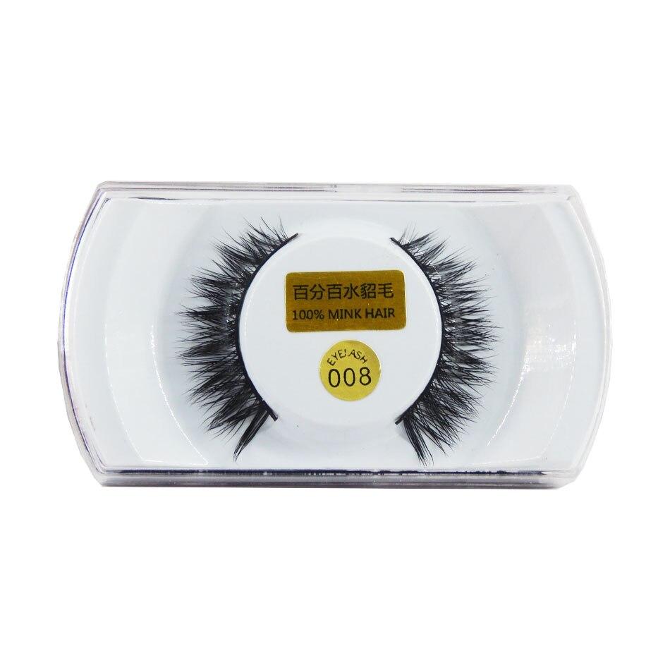 1 paar handgemaakte gevleugelde nerts valse wimpers populaire super - Make-up