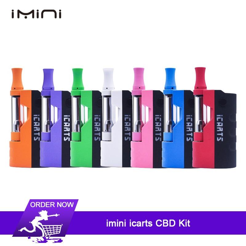 New imini icarts Thick oil Cartridges Vaporizer battery 650mAh Box Mod 510  Thread battery with 1 0ml cbd Wax Atomizer vape pen