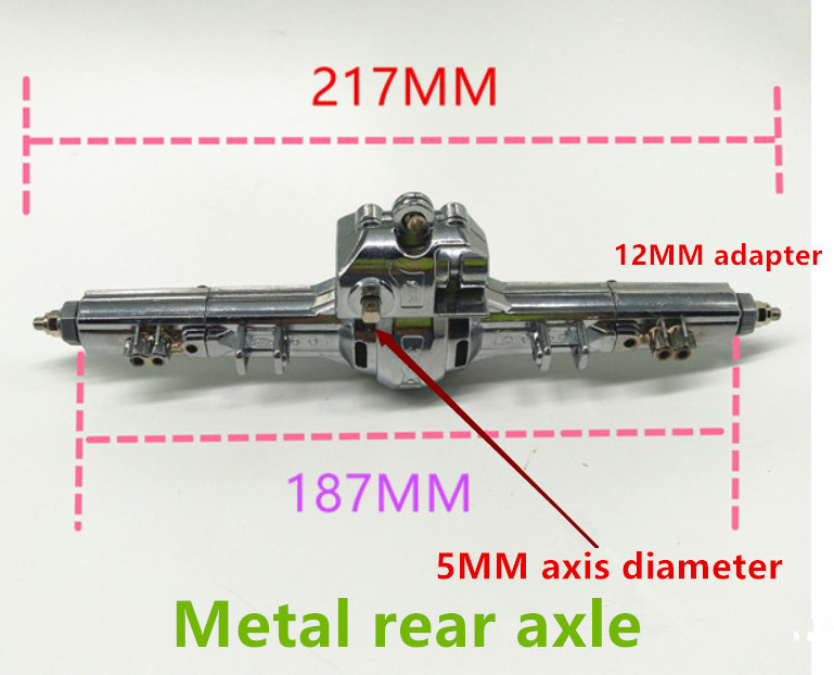 Free Shipping 1/10 Scale RC Car Axle Plastics/Metal Car Axle 12mm Adapter  Front/Rear Axle Spare DIY model toy car Part free shipping 112118 2 pieces set drive axles rear rear wheel shaft for fs racing mcd fg cen reely 1 5 scale rc car