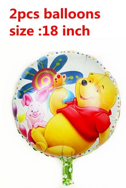 24pcs Cute Bear Winnie the Pooh Cupcake Wrapper Topper Bag Pick Baby Shower