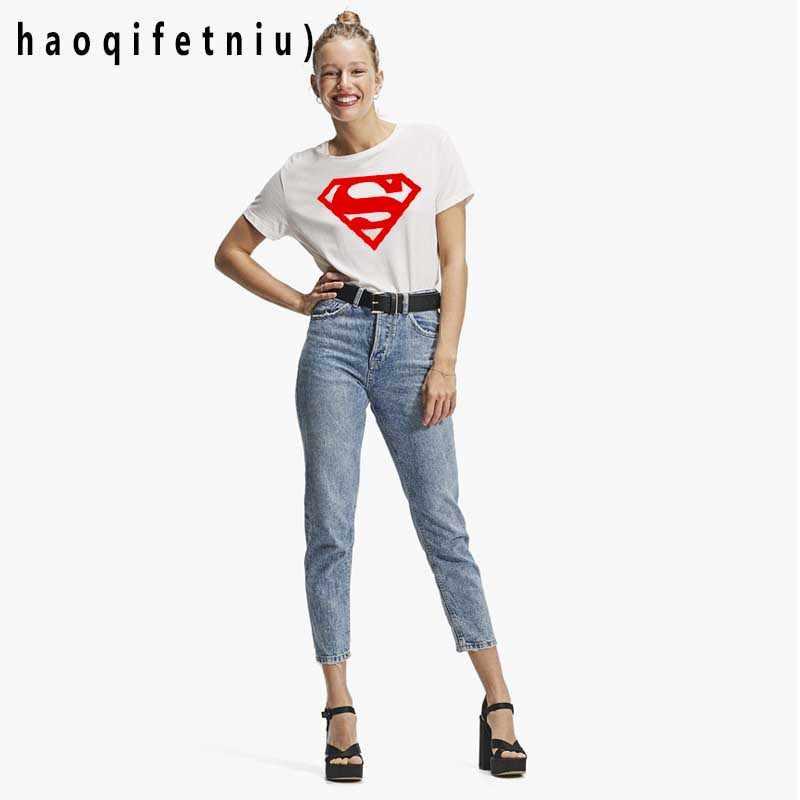 女性 Tシャツスーパーマン衣装 Tシャツスーパーマン/バットマン Tシャツ半袖ガール camiseta feminina ホット販売 tシャツ