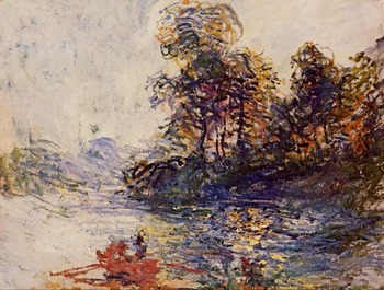 High quality Oil painting Canvas Reproductions The River (1881) By Claude Monet hand painted
