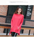 Euro 2016 pullover thick women sweater autumn winter fashion all-match patchwork turtleneck loose knitted sexy ladies shirt E208