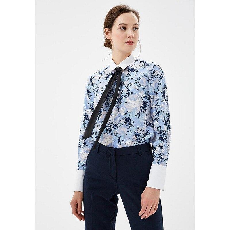 Blouses & Shirts MODIS M182W00387 blouse shirt clothes apparel for female for woman TmallFS plus collar knot blouses