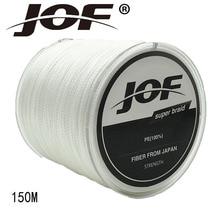 JOF 4 Strands 150M PE Braided Fishing Line Multifilament Fishing Line Wire Gray/Yellow/Blue/Green/Orange/ Rose Red 8-100LB