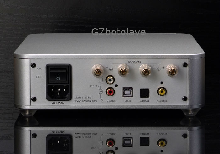 New POPU VENUS High Quality Pure Full Digital Audio Amplifier Input USB9226/Coaxial/Optical/AUX Support 24Bit/192KHz AC220V