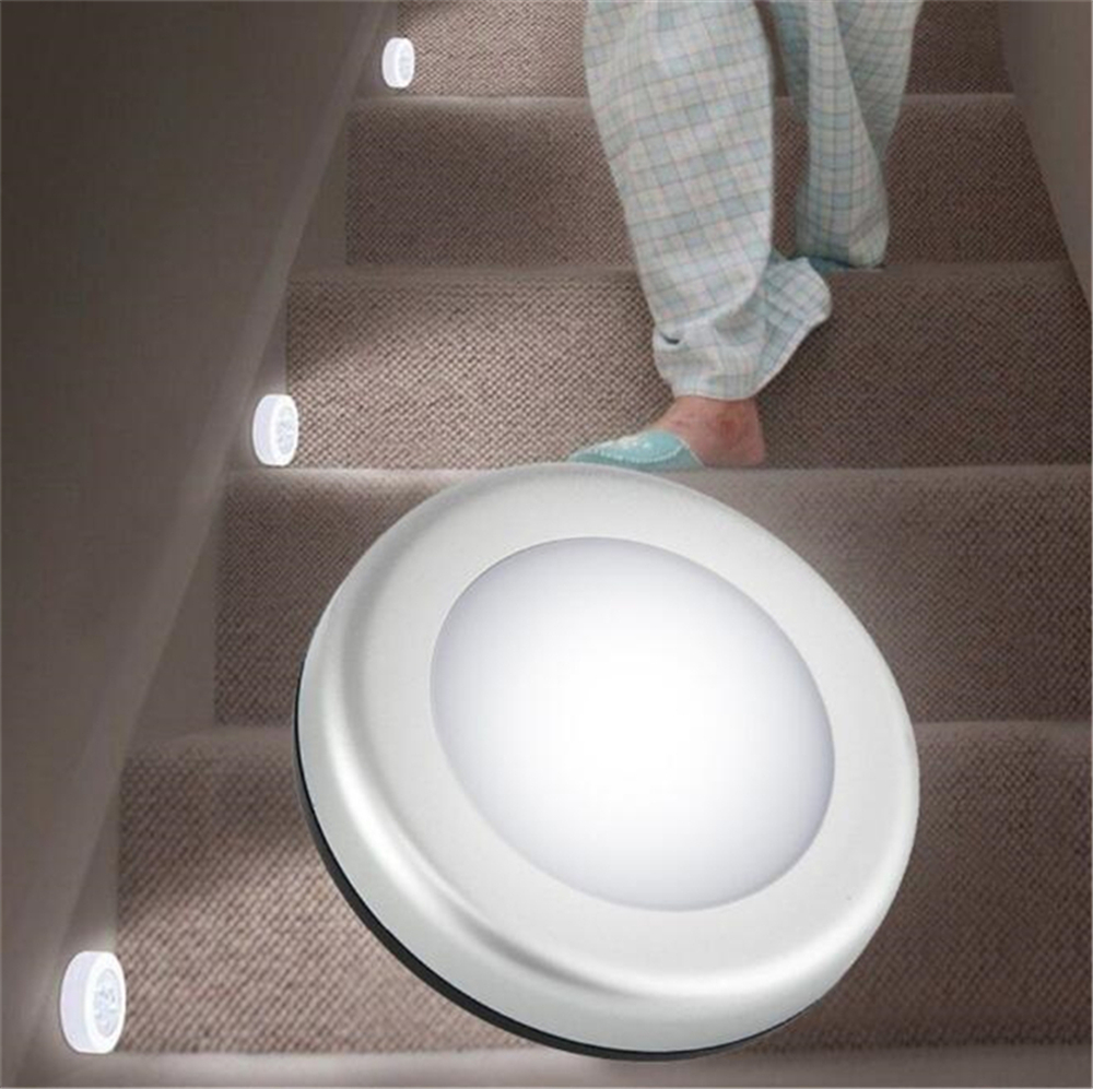 Lighting Basement Washroom Stairs: 6LEDs Motion Sensor Light Led Night Light PIR Battery