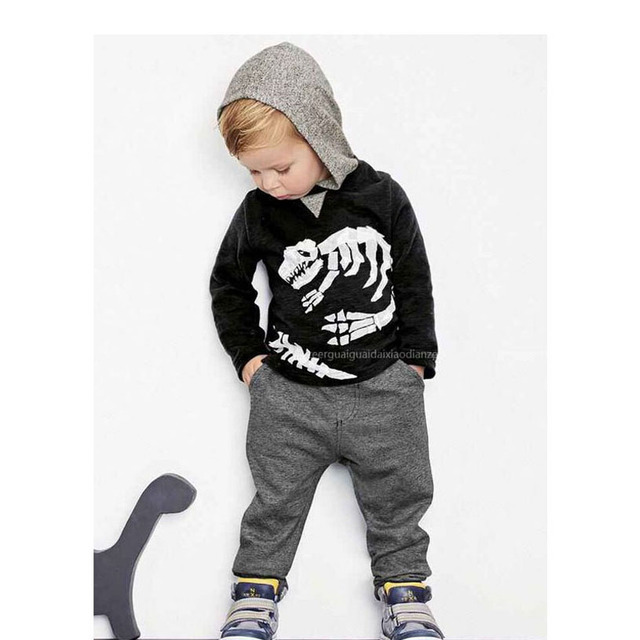 Cartoon Boys Clothing Sets Leisure Boy Hoodies+Pants Spring Cute Vetement  Enfant Cool Kids Clothes c72dc4d193ba2