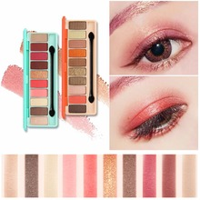 Makeup Eye Shadow Palette Shimmer Matte Eyeshadow Palette With Makeup Brush