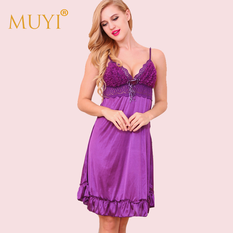 Babydoll Sleepwear Sexy Lady Sexy Nighty Dress for Women Spaghetti Strap Lace   Nightgowns     Sleepshirts   V-Neck Nightwear NightDress